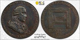 1795  1/2P PCGS AU Details Large Buttons