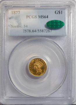 1877  G$1 PCGS MS64  CAC 5587267