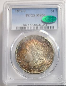 1879 S $1 PCGS MS66 Toned CAC
