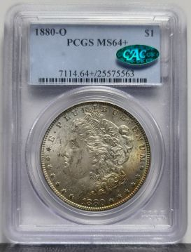 1880-O Morgan $1 PCGS MS64+ CAC