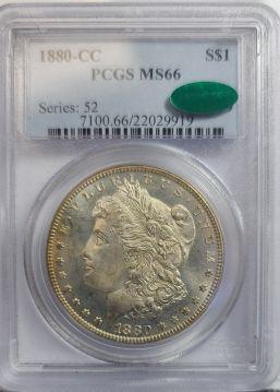1880 CC $1 PCGS MS66  CAC