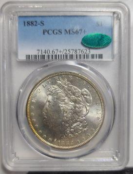 1882-S $1 PCGS MS67Plus+  CAC