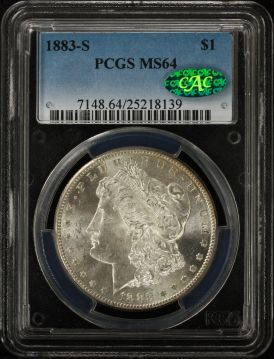 1883-S Morgan $1 PCGS MS64 CAC 25218139