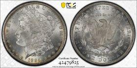 1884 CC $1 PCGS MS64  CAC
