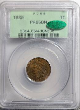 1889  1C PCGS PF65BN  CAC