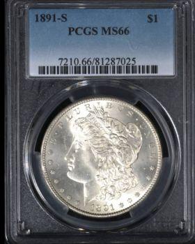 1891-S Morgan $1 PCGS MS66 - 81287025