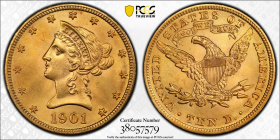 1901-S Gold Eagle $10 PCGS MS 65+ CAC 37114188
