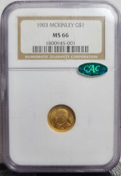 1903  G$1 NGC MS66 Mckinley