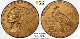 1911-D $2.50 Indian Quarter Eagle Strong, PCGS MS 62 CAC