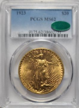 1923  $20 PCGS MS62  CAC