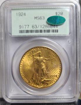 1924  $20 PCGS MS63 CAC