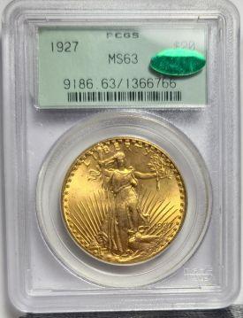 1927  $20 PCGS MS63 CAC