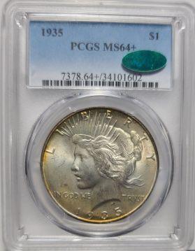 1935 ` $1 PCGS MS64Plus+  CAC