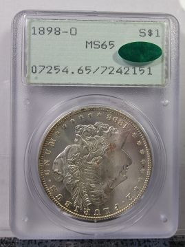 1898 O $1 PCGS MS65 Rattler CAC