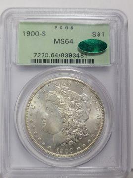 1900 S $1 PCGS MS64  CAC 8393481
