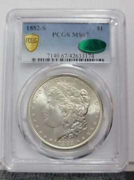 1882 S $1 PCGS MS67  CAC 42633174
