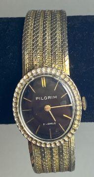 Vintage Mechanical Wind-Up Pilgrim 21 Jewels Ladies Watch