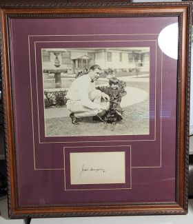 Framed B & W Jack Dempsey Photograph with Autograph Card